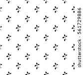 seamless pattern with flowers.... | Shutterstock .eps vector #561729886