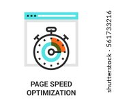 page speed optimization. | Shutterstock .eps vector #561733216