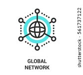 global network icon. | Shutterstock .eps vector #561737122