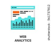 web analytics icon | Shutterstock .eps vector #561737812