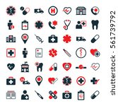 medical icons set on white... | Shutterstock .eps vector #561739792