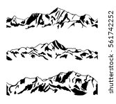 mountain range drawing set....