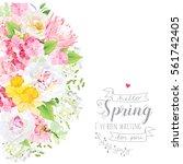 Sunny Spring Vector Design Card ...