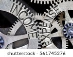 macro photo of tooth wheel... | Shutterstock . vector #561745276