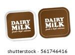 dairy milk stickers | Shutterstock .eps vector #561746416