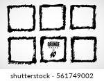 grunge frame texture set  ... | Shutterstock .eps vector #561749002