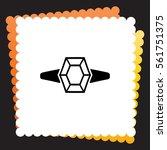 diamond ring  icon. vector...