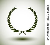 dark green laurel wreath on... | Shutterstock .eps vector #561756886