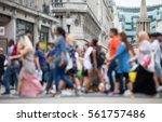 regent street with lots of... | Shutterstock . vector #561757486