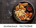 Fast Food Fried Crispy And...