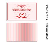 with valentine's day. holiday... | Shutterstock .eps vector #561763966