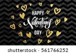 luxury gold valentine day text...   Shutterstock .eps vector #561766252