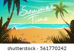 summertime cartoon vector...