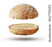 burger bun empty isolated.... | Shutterstock . vector #561770452