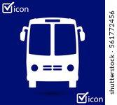 bus icon. schoolbus symbol.... | Shutterstock .eps vector #561772456