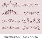 set of flourish decorative text ... | Shutterstock .eps vector #561777346