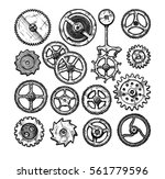 vector ink hand drawn set of... | Shutterstock .eps vector #561779596