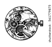 vector ink hand drawn... | Shutterstock .eps vector #561779875