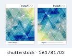 scientific brochure design... | Shutterstock .eps vector #561781702