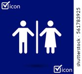 wc sign icon.  male and female...
