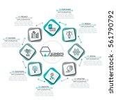 round diagram  8 rectangular...   Shutterstock .eps vector #561790792