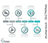 horizontal timeline  6 round... | Shutterstock .eps vector #561790966