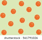 sports pattern with basketballs | Shutterstock .eps vector #561791026