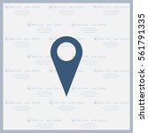 map pointer   vector icon  flat ... | Shutterstock .eps vector #561791335