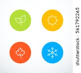 set of season icons | Shutterstock .eps vector #561792265