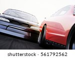 front view of motor sports auto ... | Shutterstock . vector #561792562