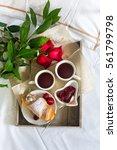 romantic breakfast | Shutterstock . vector #561799798