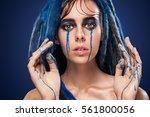 bodyart model girl portrait...   Shutterstock . vector #561800056
