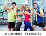 sportsmen and sportswomen... | Shutterstock . vector #561803482
