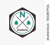 north vector wildlife adventure ... | Shutterstock .eps vector #561807916