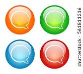 speech balloon talk bubble icon ...   Shutterstock . vector #561811216
