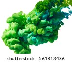 abstract paint splash isolated... | Shutterstock . vector #561813436