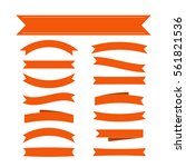 orange ribbon banners set.... | Shutterstock . vector #561821536