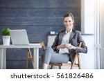 portrait of a young...   Shutterstock . vector #561826486