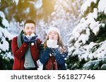 outdoor waist up portrait of... | Shutterstock . vector #561827746