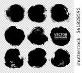 abstract big black circle... | Shutterstock .eps vector #561828592