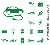 electric car icon  alternative... | Shutterstock .eps vector #561830146