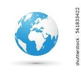 world map blue white...   Shutterstock .eps vector #561833422