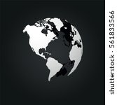 global world north  central and ...   Shutterstock .eps vector #561833566