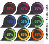 circle diagram pie charts... | Shutterstock .eps vector #561837856