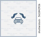 car insurance web icon. vector... | Shutterstock .eps vector #561842926