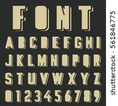 alphabet font template. vintage ... | Shutterstock .eps vector #561846775
