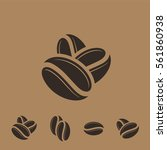 coffee. icon set. black coffee... | Shutterstock .eps vector #561860938