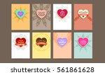 wedding invitation card or... | Shutterstock .eps vector #561861628