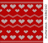 valentine day red knitted... | Shutterstock .eps vector #561862162