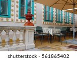 beautiful colorful building...   Shutterstock . vector #561865402